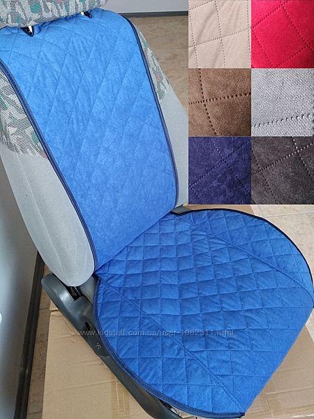 Накидки на сидения авто, чехлы на сиденья Алькантара эко-замша