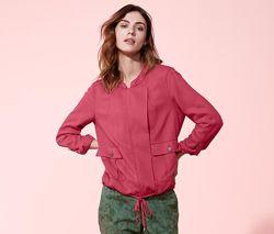 Куртка-ветровка ягодного цвета в стиле casual, tchiboгермания