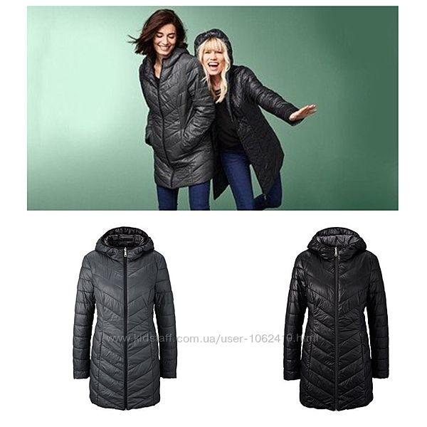 Стильное стеганное женское двухстороннее пальто от тсм tchibo чибо