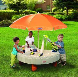 Песочница стол - Веселая Стройка Little Tikes для песка и воды, с аксесс.