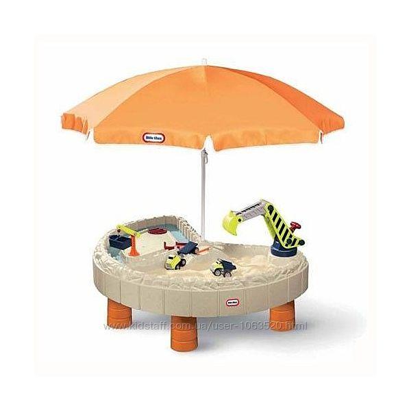Песочница-стол Веселая стройка Little Tikes для песка и воды, с аксес.