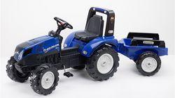 Детский трактор на педалях с прицепом Falk 3090B NEW HOLLAND 3-7 лет