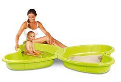 Песочница бассейн с подводом для воды и крышкой Smoby 310143