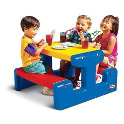 Игровой столик для пикника - Яркие цвета Little Tikes синий 466800060