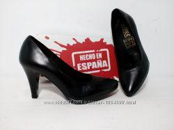 Кожаные туфли, очень удобные, анатомическая стелька. Испания 37 38 39р