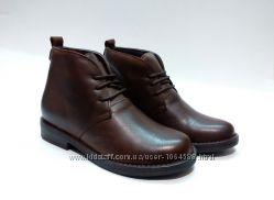 Кожаные ботинки Унисекс, очень мягкая кожа, Испания Детские Деми ботинки