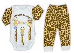 Комплект боди и ползунки Жираф