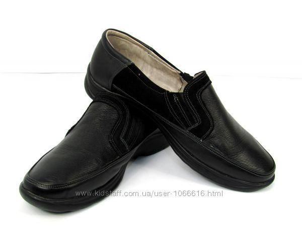 Туфли кожаные ручная работа Hand Made ТУ  124 49  49, 5 размер