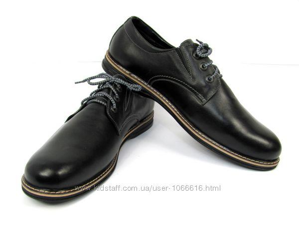 Туфли кожаные ручная работа Hand Made ТУ  125 49  49, 5 размер