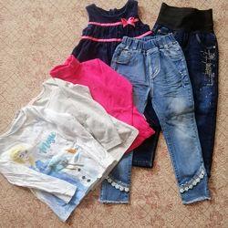 Пакет вещей для девочки 4 5 лет реглан сарафан платье джинсы