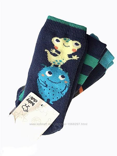Комплект 3 пары. детские , махровые, анти скользящие носочки. c&a 3-9.