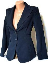 Шикарный приталенный пиджак, темно синий, Stefanel, Италия, S.