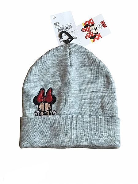 Двойная демисезонная детская шапка бини c&a, disney