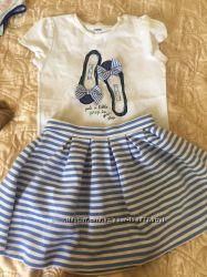 Літні комплекти спідничка і футболка на  вік 11-13 років Mayoral, Gymboree