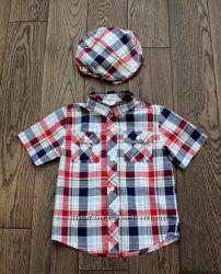 Рубашка кепка Сrazy8 для мальчика, р. 4 -5 лет