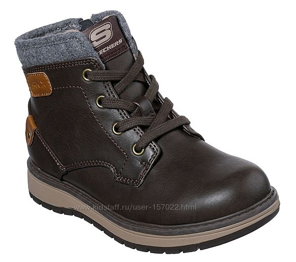 Ботинки детские Skechers 35 р-р шнуровка  молния