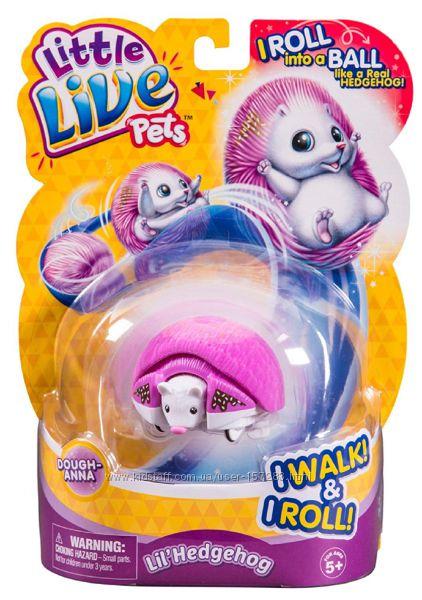 Интерактивный ежик розовый  Little Live Pets Hedgehog  Dough Anna
