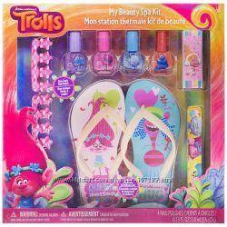 Набор детские лаки с вьетнамками салон красоты Тролли Trolls My Beauty Spa