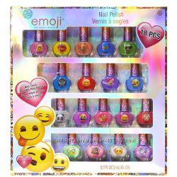 Лаки детские для ногтей Эмоджи 18 штук Townley Girl Emoji Kids Nail Polish