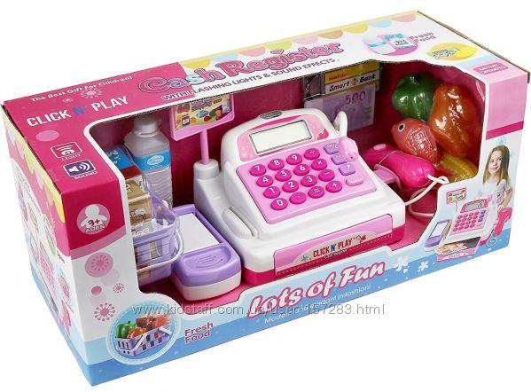 Детский кассовый аппарат Click N&acute Play со сканером и аксессуарами