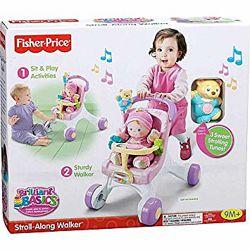 Fisher Price Ходунки коляска для кукол Mommy Stroll-Along Musical Walker