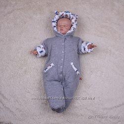 Демисезонный комбинезон для новорожденных Самолётики