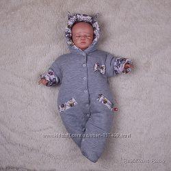 Демисезонный комбинезон для новорожденных Мася зайчики