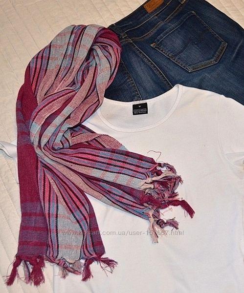 Красивый шарф, новый тонкий палантин, платок, шаль