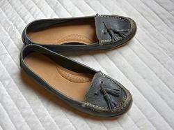 Кожаные мокасины, легкие, удобные туфли, кожа, Footglove Англия, 38,5-39