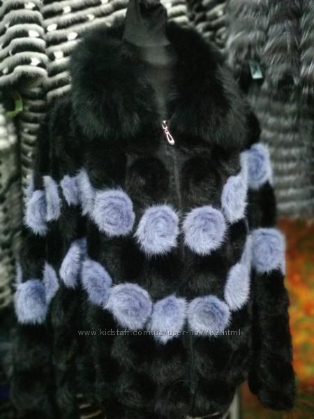Кардиган из вязанной норки