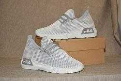 Кросовки носочком фила серые, сетчатые 36, 37, 39 размер