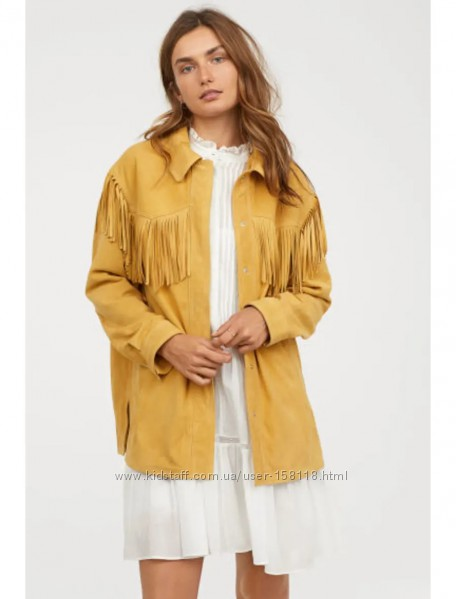 Нереально крутая куртка, жакет H&M, премиум натур. замша - М - с 10 по 14 р