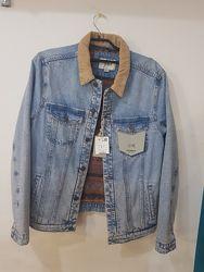 Крутая мужская куртка-джинсовка pull&bear - л