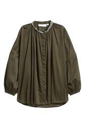 Крутая блузка-распашонка H&M в оверсайз стиле - 44 или 14 - с 12 по 16