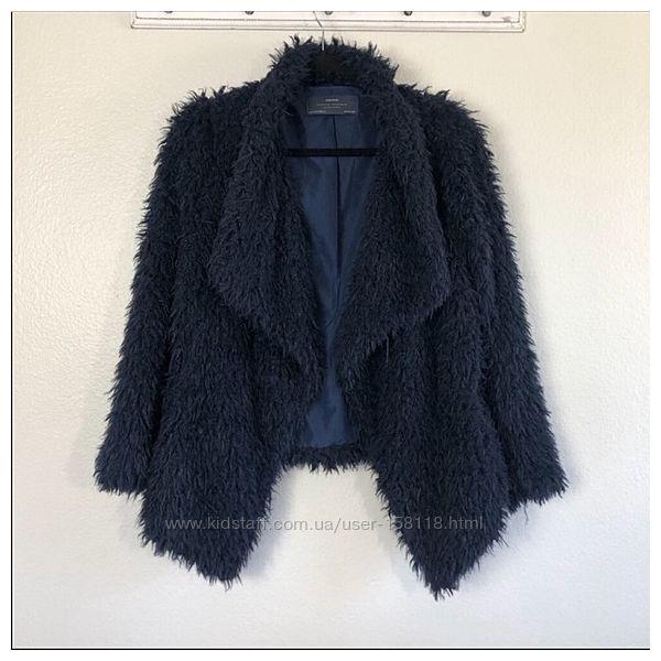 Крутая шубка-разлетайка-меховушка Zara, кофта, пиджак - Л