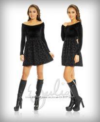 Платье черное бархатное
