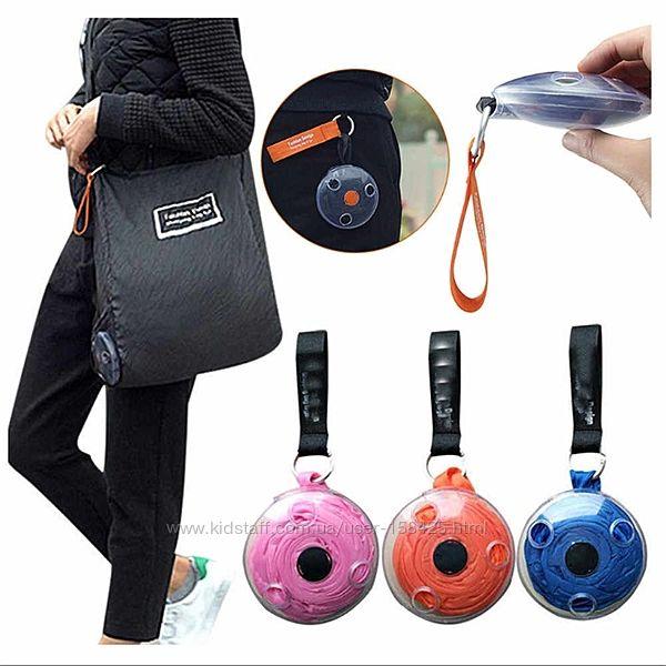 Складная компактная сумка-шоппер SUNROZ Roll Up Bag