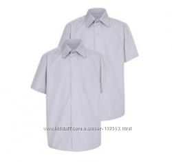 Комплект 2 шт. школьных рубашек George. Размер 7-8 лет. Произв. Бангладеш.