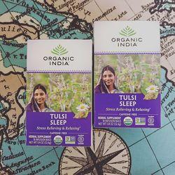 Organic India, Чай Tulsi, Sleep, без кофеина, 18 пакетиков. 32, 4 г.