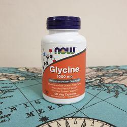 Now Foods, Глицин, 1000 мг, 100 растительных капсул
