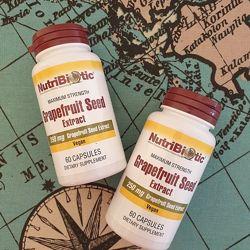 NutriBiotic, экстракт семян грейпфрута, 250 мг .60 капсул. GSE.