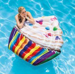 Пляжный надувной матрас плот Intex 58770 Кекс, 142 х 135 см Отзывы