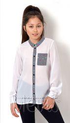 Блузка школьная с длинным рукавом Mevis 2763 - размеры 122-146