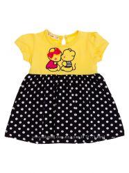 Платье для девочки Barmy Мышата желтое 0005 - р. 74-98