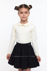Блузка классическая трикотажная с длинным рукавом SMIL 114522
