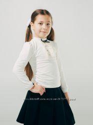 Блузка трикотажная с декоративной планкой SMIL 114611