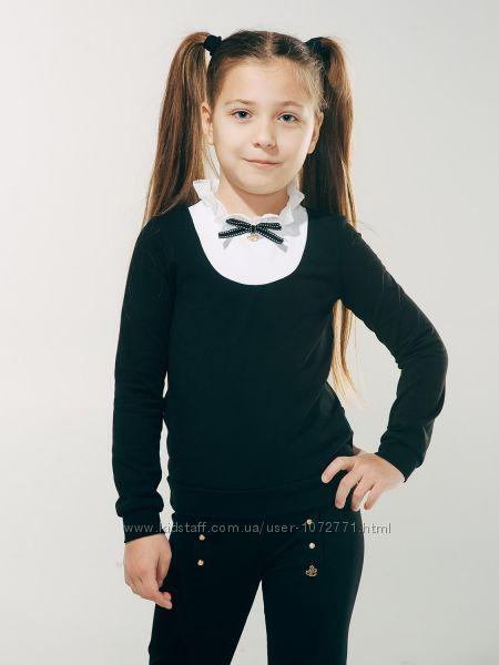 Блузка трикотажная с манишкой SMIL 114607
