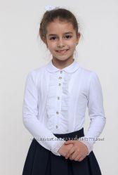 Блузка-двойка трикотажная школьная SMIL для девочки 114513