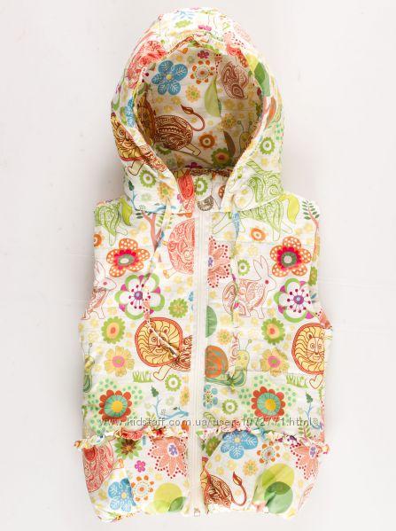 Жилетка для девочки Цветы Одягайко 7211