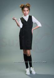 Сарафан школьный SUZIE Бланш СН-96 синий и черный - размеры 146-185